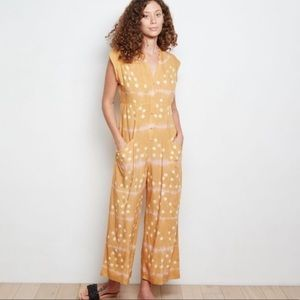 Anthropologie The Odells Claudia Yellow Jumpsuit